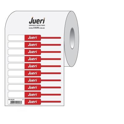 Detalhes do produto Etiqueta Anel para Semijoias Sem Dobra Personalizada - 2,8cm (x2) x 1,0cm - mínimo 10 rolos