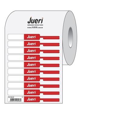 Detalhes do produto Etiqueta Anel para Semijoias Com Dobra Personalizada - 90X12MM-  mínimo 10 rolos